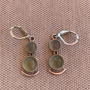 Sterling prasiolite earrings